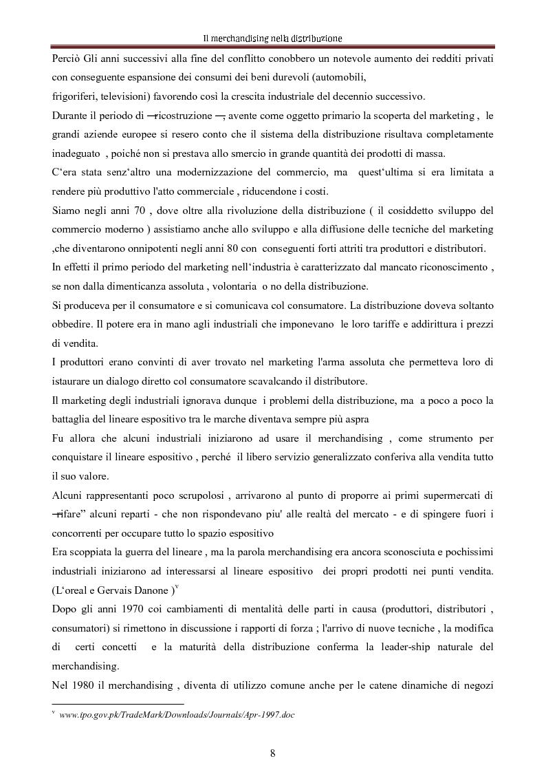 Anteprima della tesi: Le nuove dimensioni del merchandising distributivo, Pagina 6