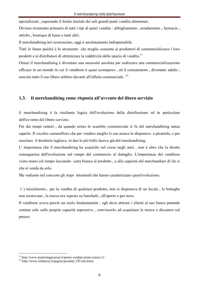 Anteprima della tesi: Le nuove dimensioni del merchandising distributivo, Pagina 7