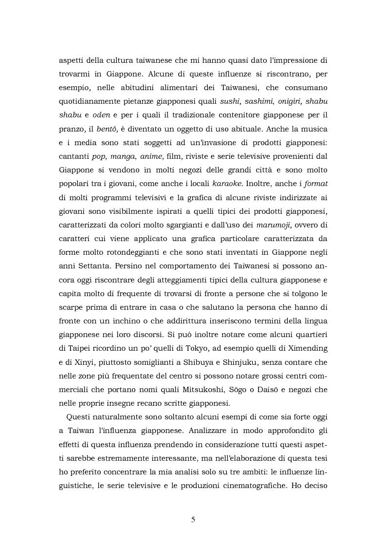Anteprima della tesi: Il Giappone a Taiwan: un'analisi delle influenze giapponesi sulla lingua e la cultura di Taiwan, Pagina 5