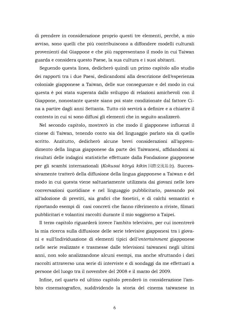 Anteprima della tesi: Il Giappone a Taiwan: un'analisi delle influenze giapponesi sulla lingua e la cultura di Taiwan, Pagina 6