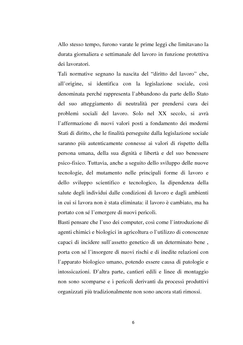 Anteprima della tesi: La sicurezza sul lavoro e rischio psicologico, Pagina 2