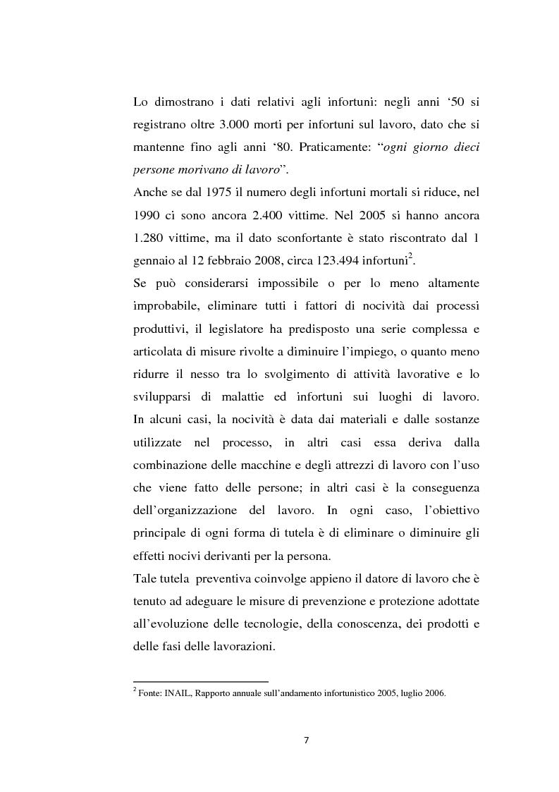 Anteprima della tesi: La sicurezza sul lavoro e rischio psicologico, Pagina 3
