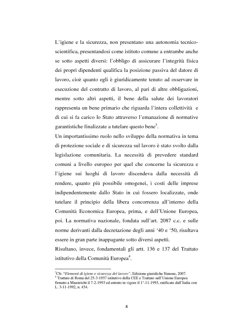 Anteprima della tesi: La sicurezza sul lavoro e rischio psicologico, Pagina 4