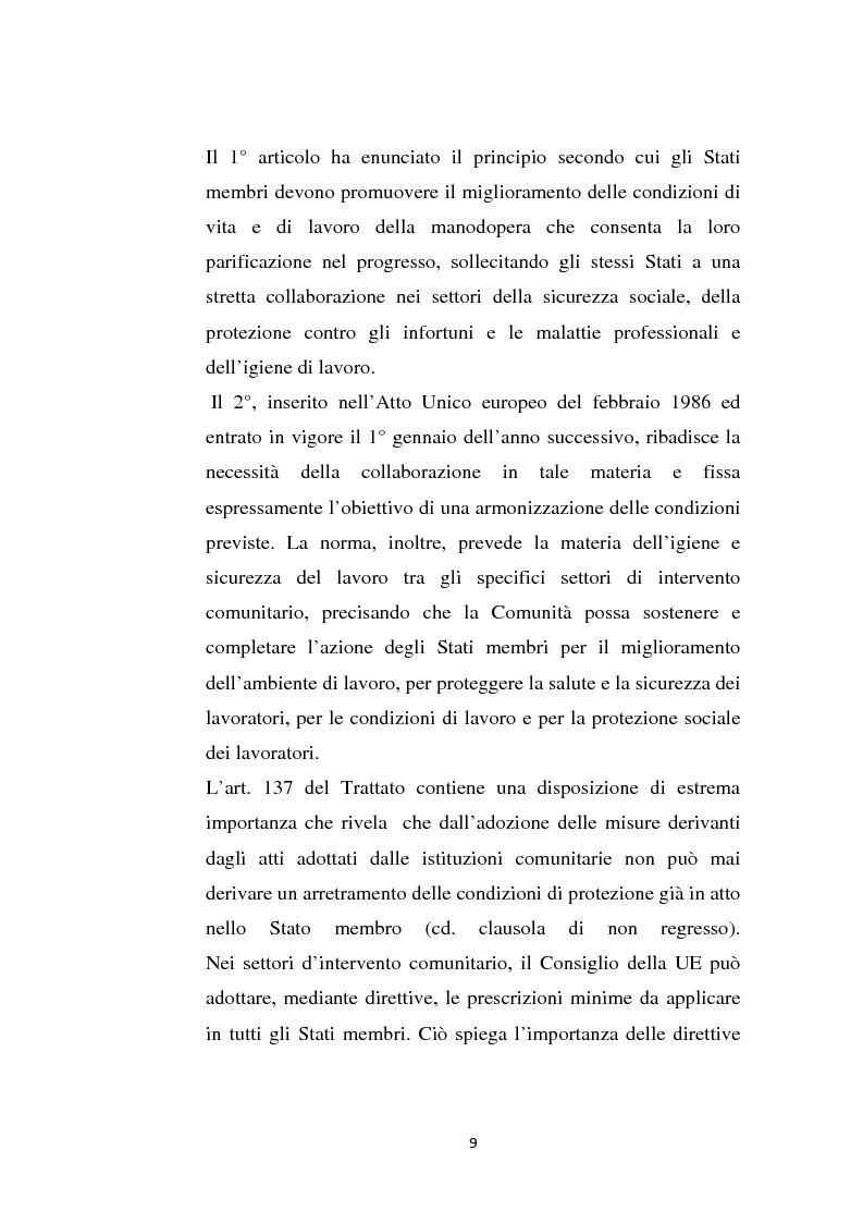 Anteprima della tesi: La sicurezza sul lavoro e rischio psicologico, Pagina 5