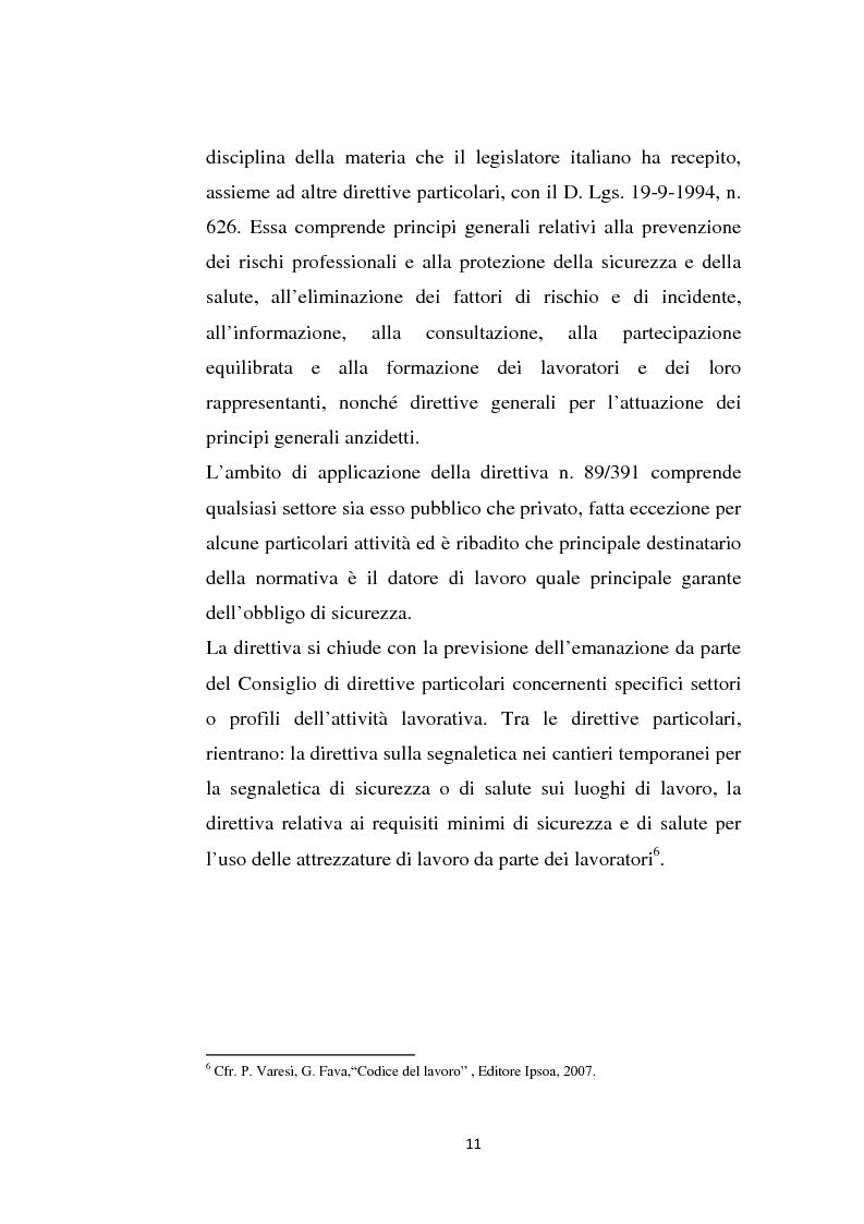 Anteprima della tesi: La sicurezza sul lavoro e rischio psicologico, Pagina 7