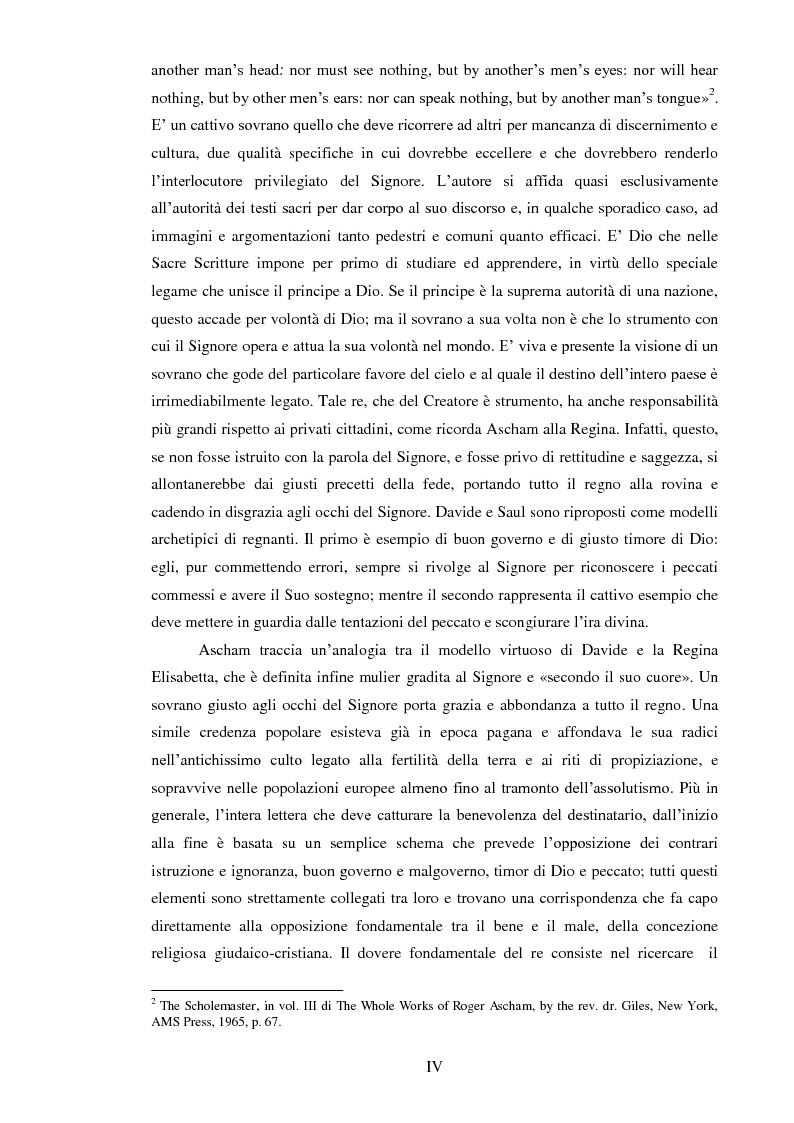Anteprima della tesi: ''THE SCHOLEMASTER'': Traduzione e cura del trattato sull'educazione dei giovani e sull'insegnamento del latino dell'umanista inglese Roger Ascham, Pagina 4