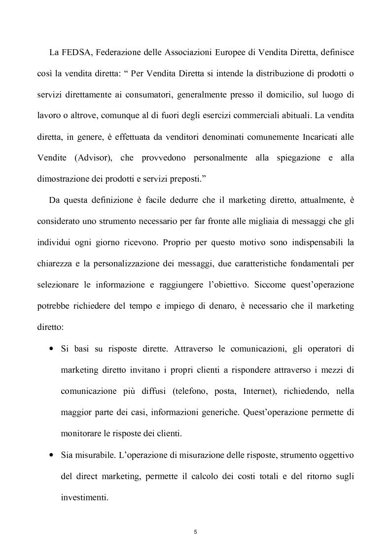Anteprima della tesi: Network e multilevel marketing - Un gioco dove tutti vincono, Pagina 5
