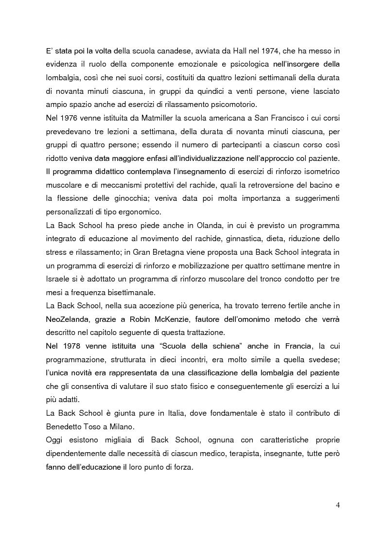Anteprima della tesi: Back School e McKenzie: due metodi a confronto nel trattamento riabilitativo della lombalgia, Pagina 2