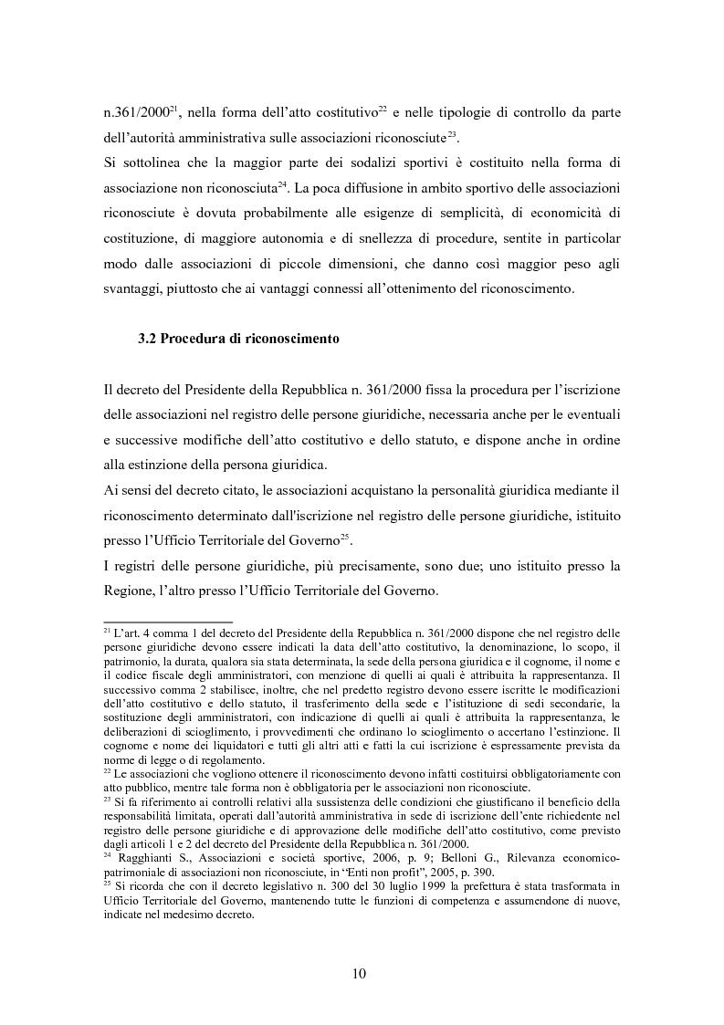 Anteprima della tesi: Associazioni sportive dilettantistiche: aspetti tributari e civilistici, Pagina 10