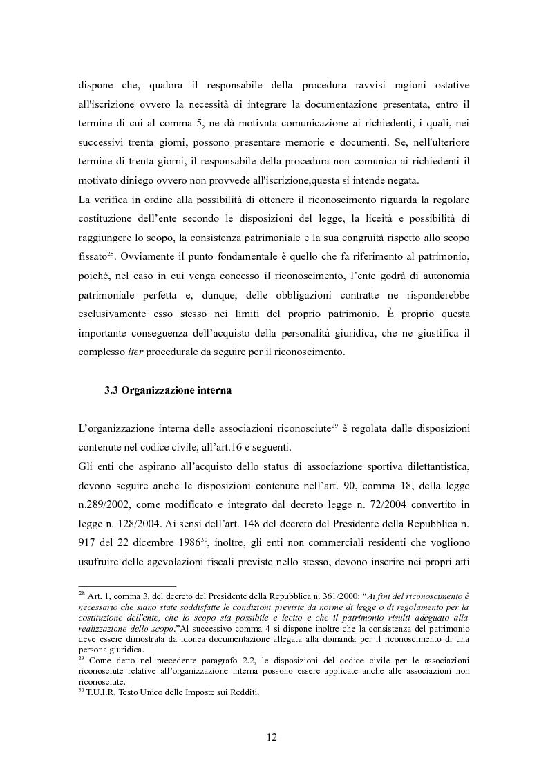 Anteprima della tesi: Associazioni sportive dilettantistiche: aspetti tributari e civilistici, Pagina 12
