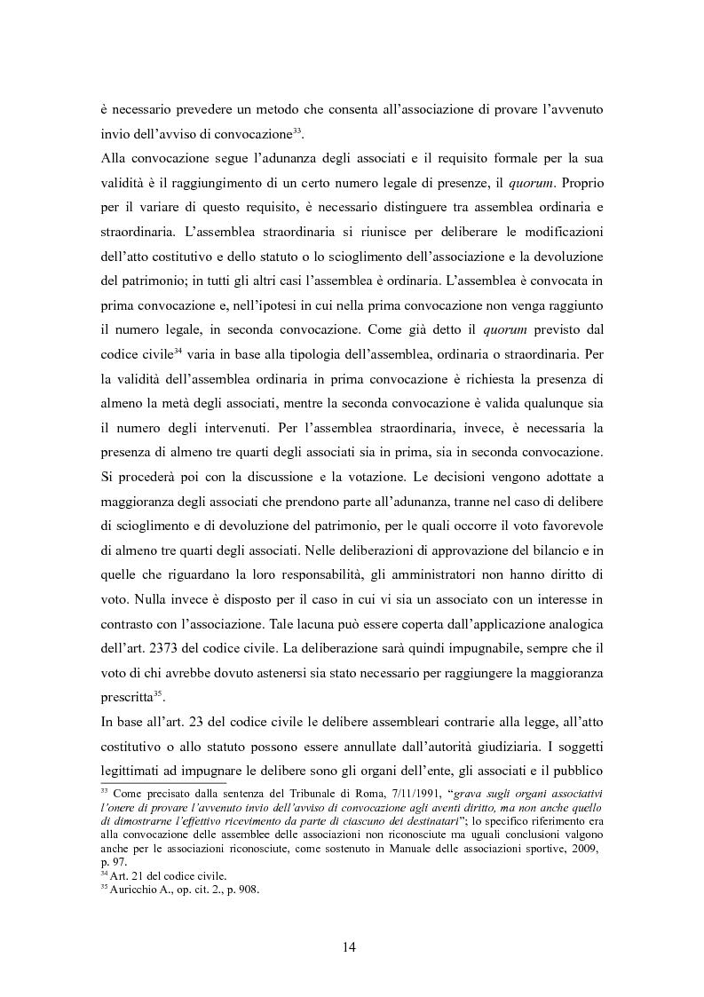 Anteprima della tesi: Associazioni sportive dilettantistiche: aspetti tributari e civilistici, Pagina 14