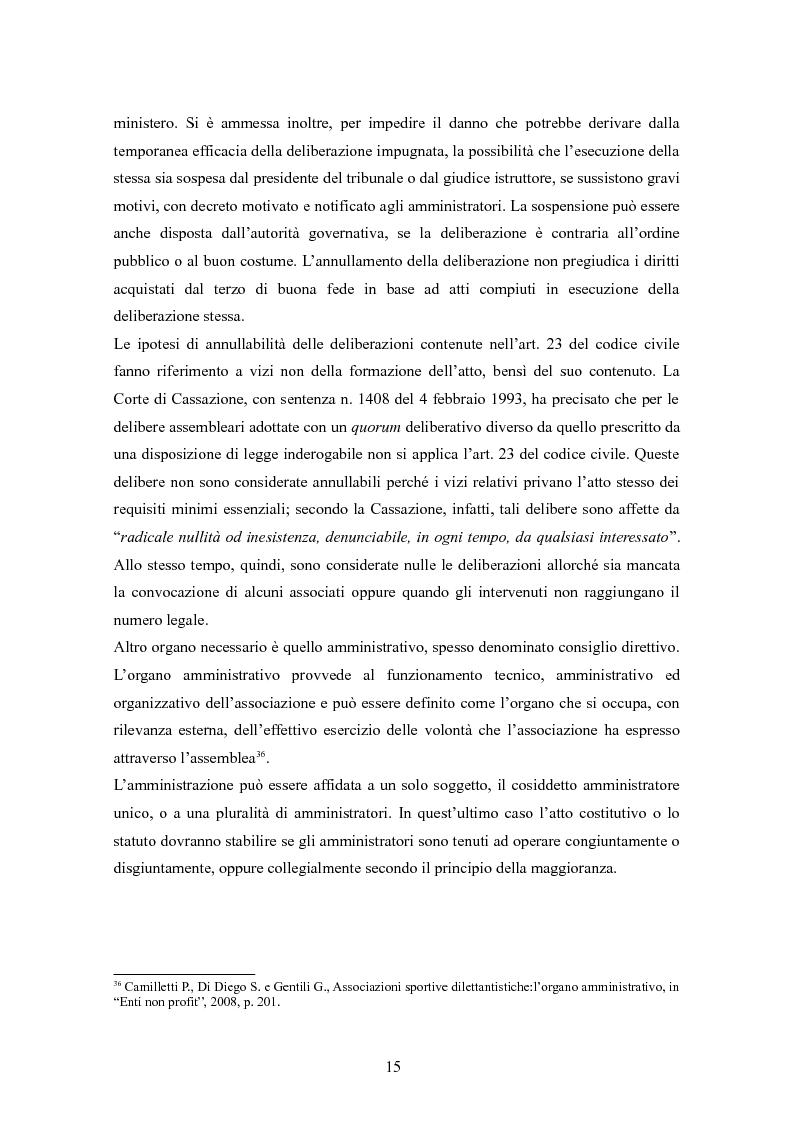 Anteprima della tesi: Associazioni sportive dilettantistiche: aspetti tributari e civilistici, Pagina 15