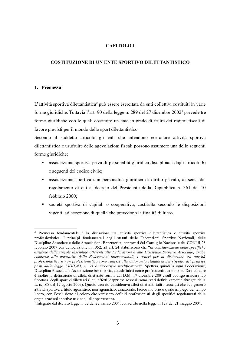 Anteprima della tesi: Associazioni sportive dilettantistiche: aspetti tributari e civilistici, Pagina 3