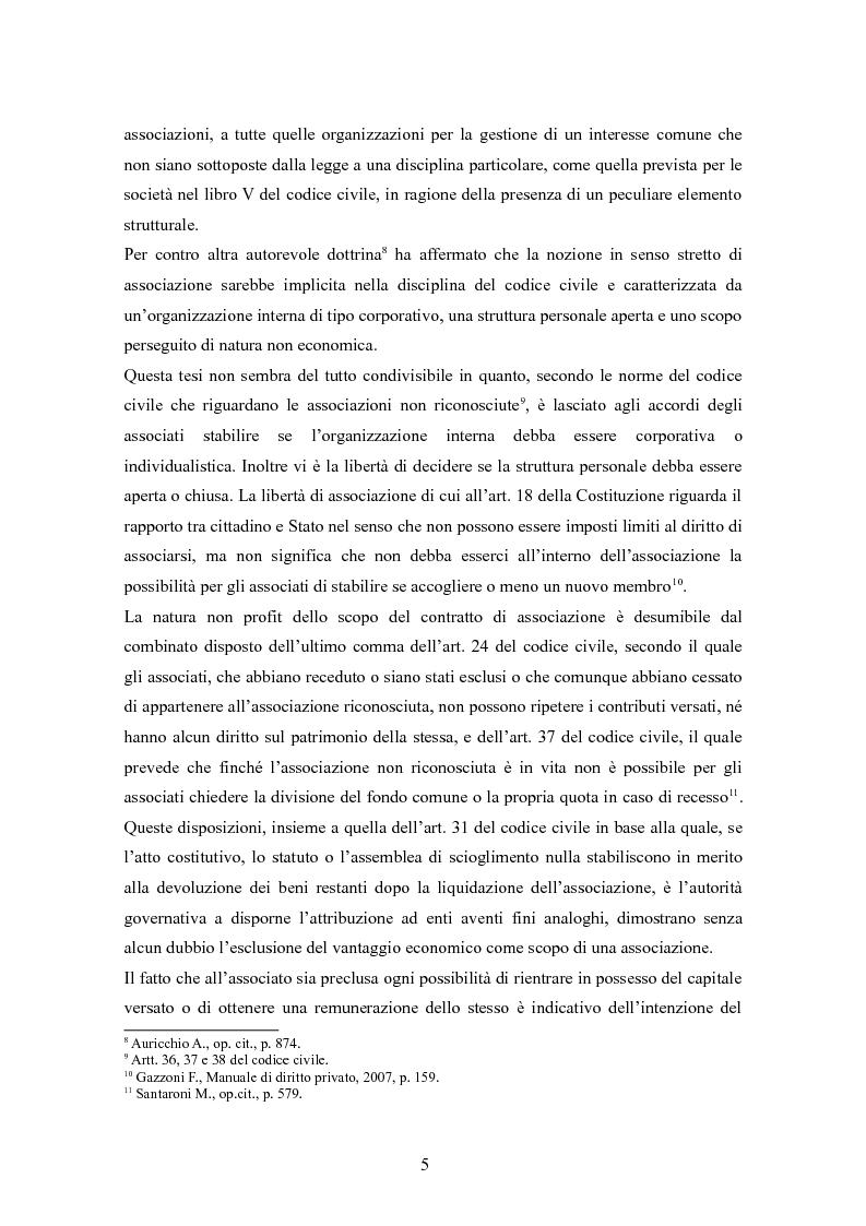 Anteprima della tesi: Associazioni sportive dilettantistiche: aspetti tributari e civilistici, Pagina 5