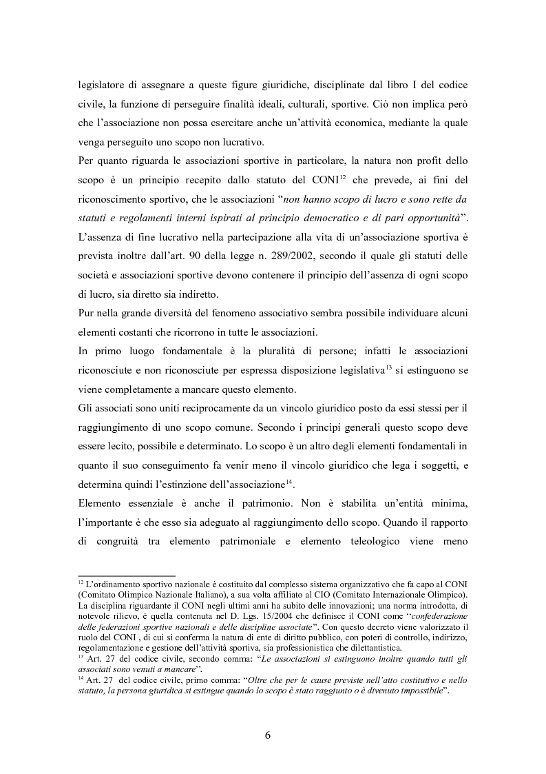 Anteprima della tesi: Associazioni sportive dilettantistiche: aspetti tributari e civilistici, Pagina 6