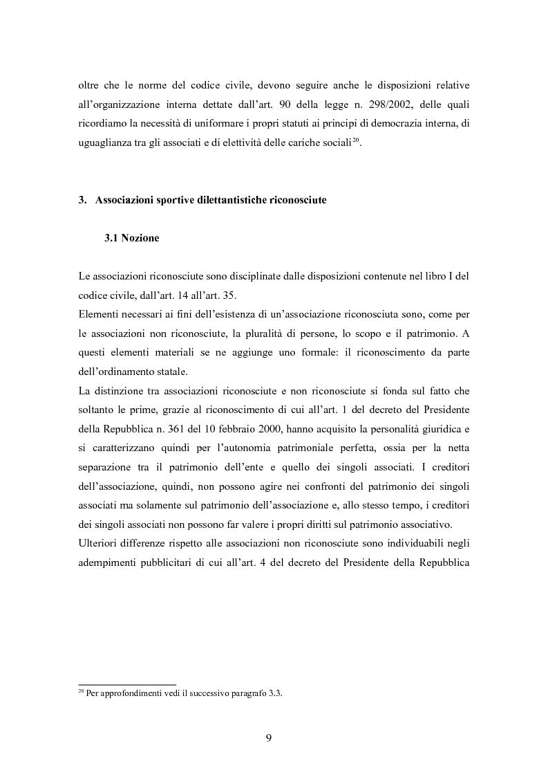 Anteprima della tesi: Associazioni sportive dilettantistiche: aspetti tributari e civilistici, Pagina 9