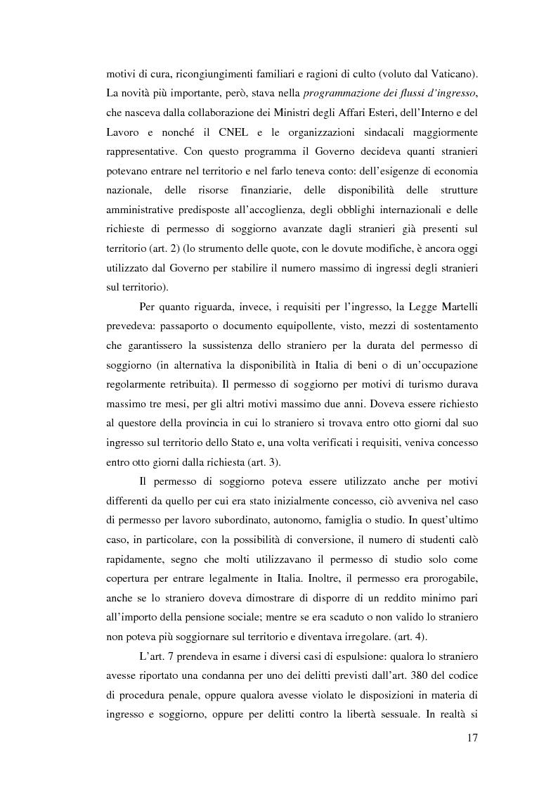 Anteprima della tesi: Immigrazione e democrazia: l'esperienza italiana in una cornice internazionale, Pagina 10