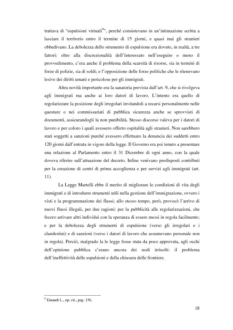 Anteprima della tesi: Immigrazione e democrazia: l'esperienza italiana in una cornice internazionale, Pagina 11