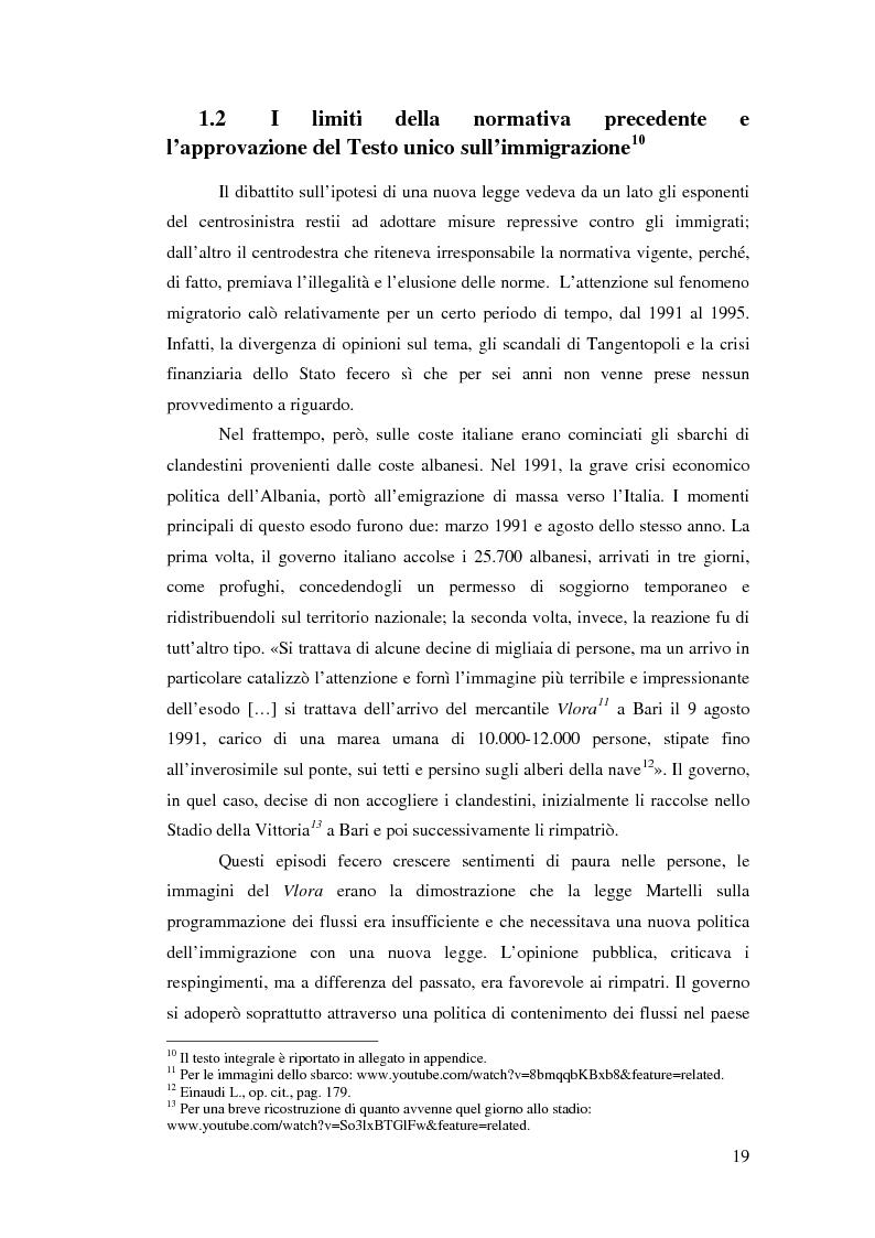 Anteprima della tesi: Immigrazione e democrazia: l'esperienza italiana in una cornice internazionale, Pagina 12