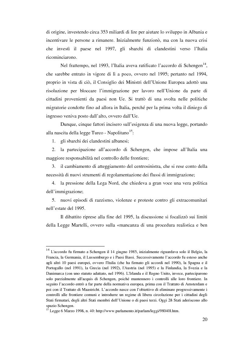 Anteprima della tesi: Immigrazione e democrazia: l'esperienza italiana in una cornice internazionale, Pagina 13
