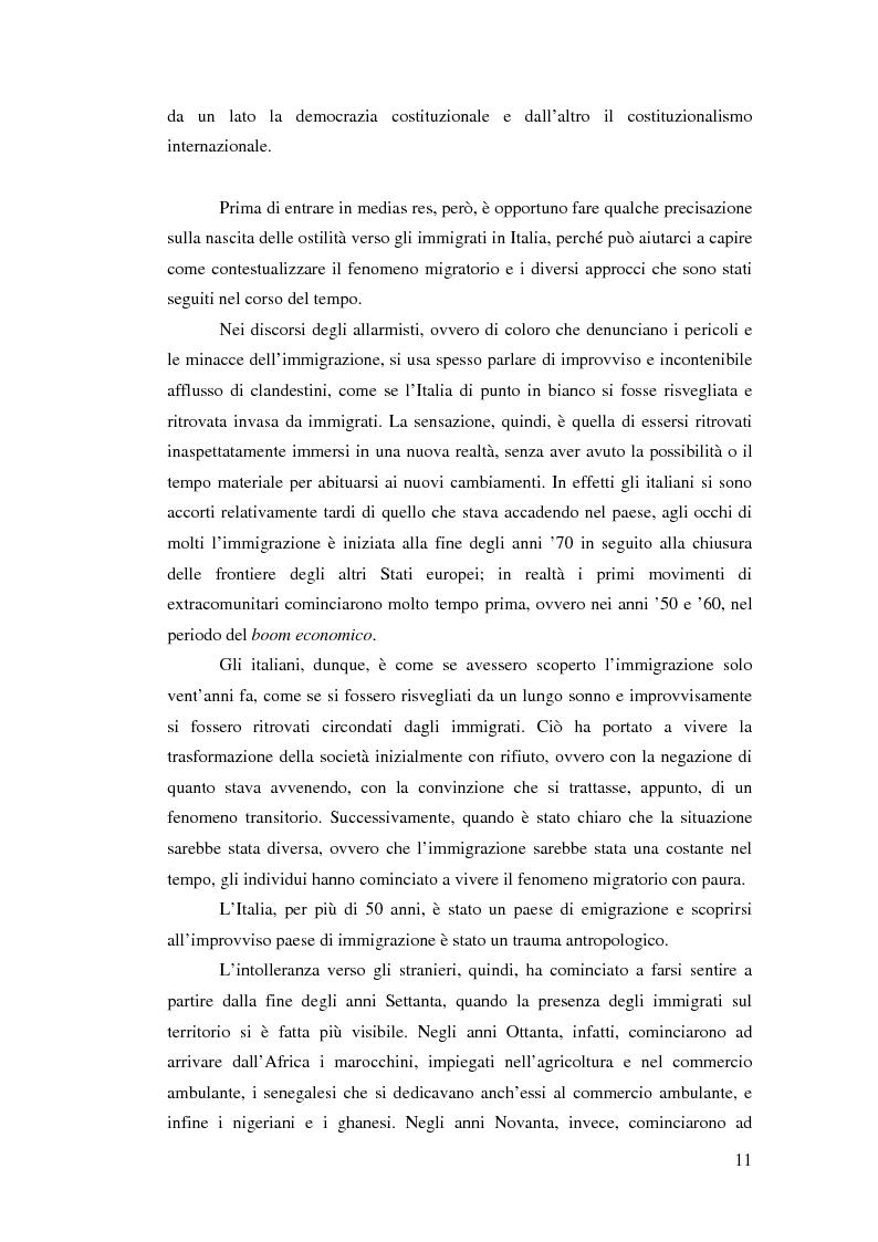 Anteprima della tesi: Immigrazione e democrazia: l'esperienza italiana in una cornice internazionale, Pagina 4