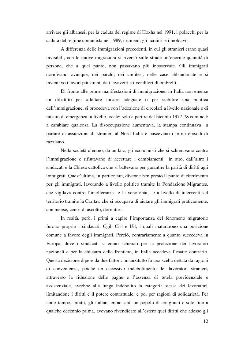 Anteprima della tesi: Immigrazione e democrazia: l'esperienza italiana in una cornice internazionale, Pagina 5