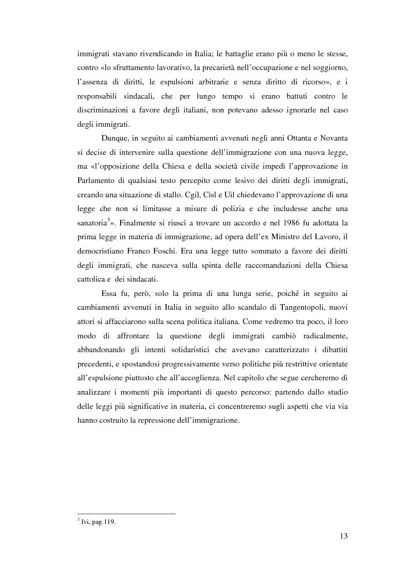 Anteprima della tesi: Immigrazione e democrazia: l'esperienza italiana in una cornice internazionale, Pagina 6