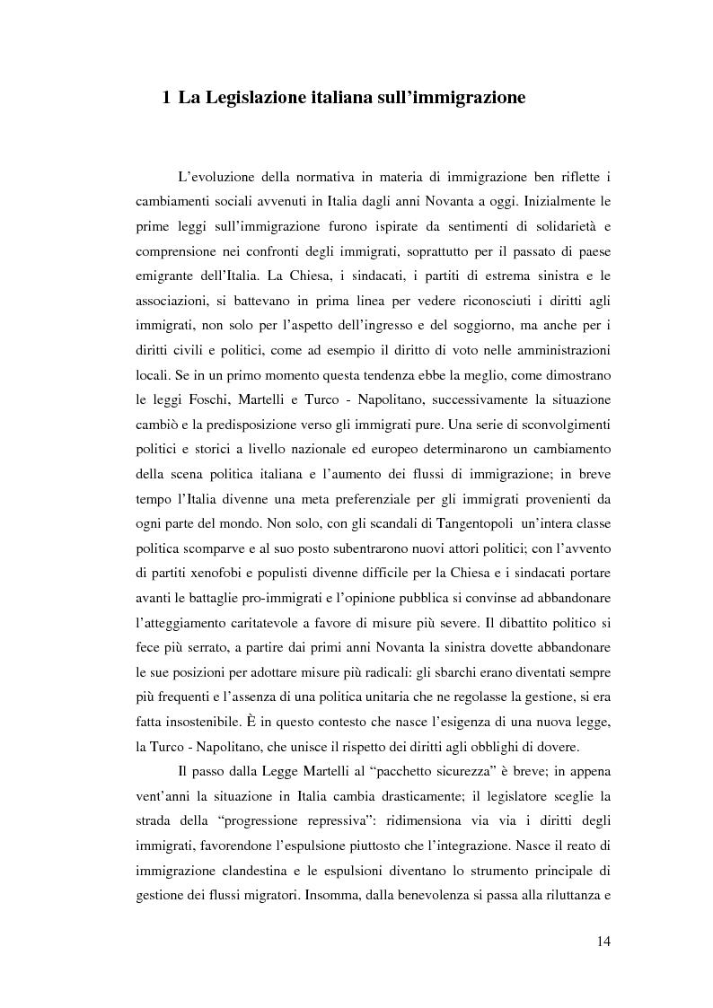Anteprima della tesi: Immigrazione e democrazia: l'esperienza italiana in una cornice internazionale, Pagina 7