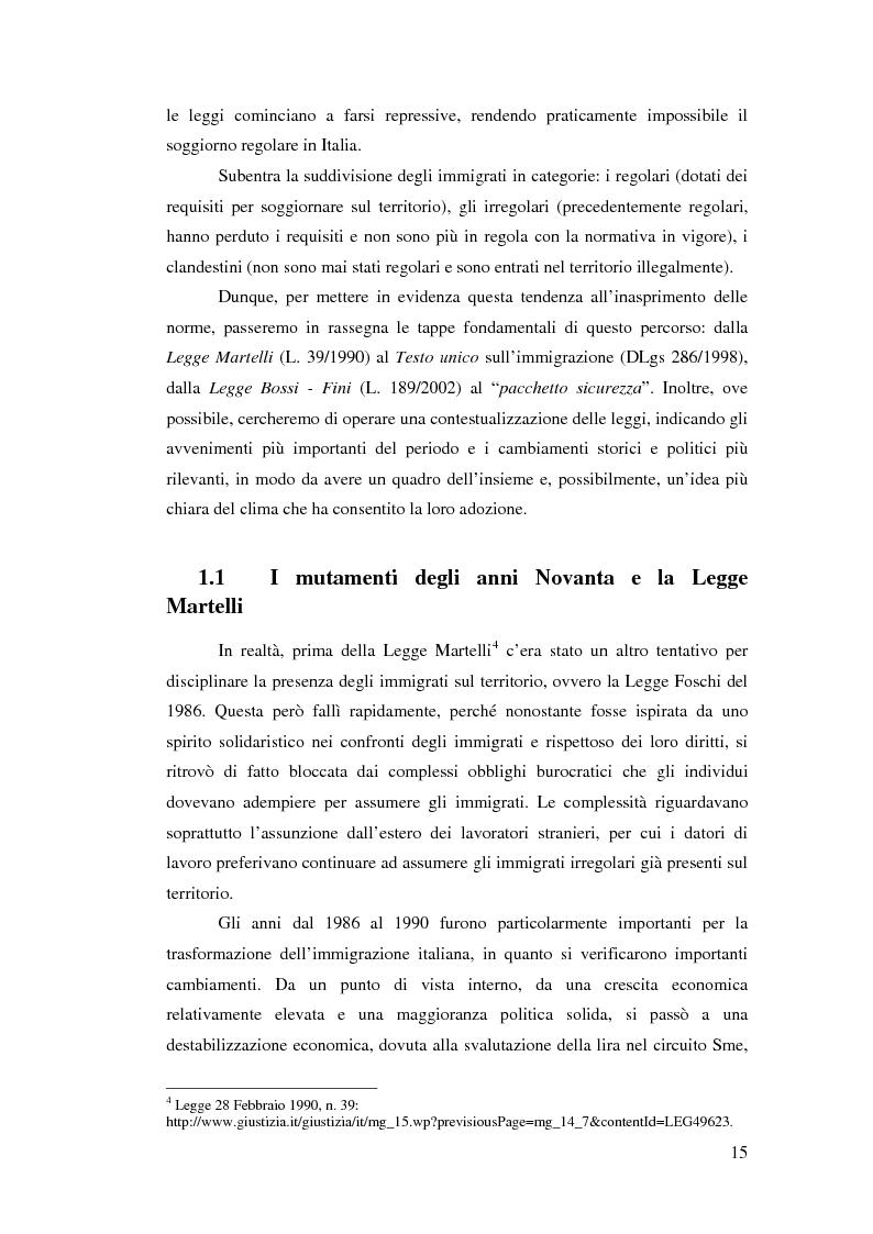 Anteprima della tesi: Immigrazione e democrazia: l'esperienza italiana in una cornice internazionale, Pagina 8