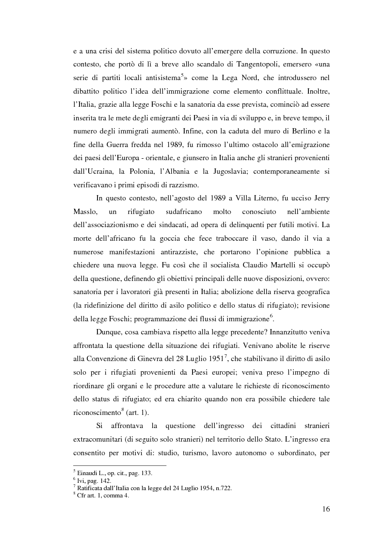 Anteprima della tesi: Immigrazione e democrazia: l'esperienza italiana in una cornice internazionale, Pagina 9