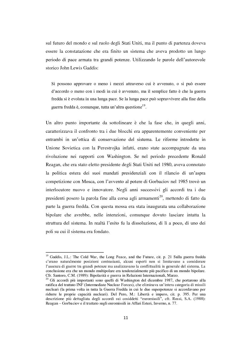 Anteprima della tesi: Declinismo. Il dibattito sul declino degli Stati Uniti tra la fine della guerra fredda e l'inizio dell'era post-bipolare., Pagina 11