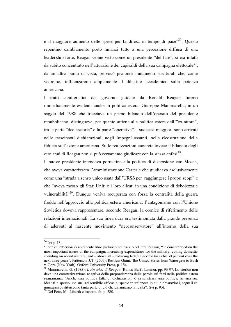 Anteprima della tesi: Declinismo. Il dibattito sul declino degli Stati Uniti tra la fine della guerra fredda e l'inizio dell'era post-bipolare., Pagina 14
