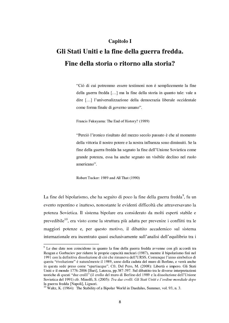 Anteprima della tesi: Declinismo. Il dibattito sul declino degli Stati Uniti tra la fine della guerra fredda e l'inizio dell'era post-bipolare., Pagina 8