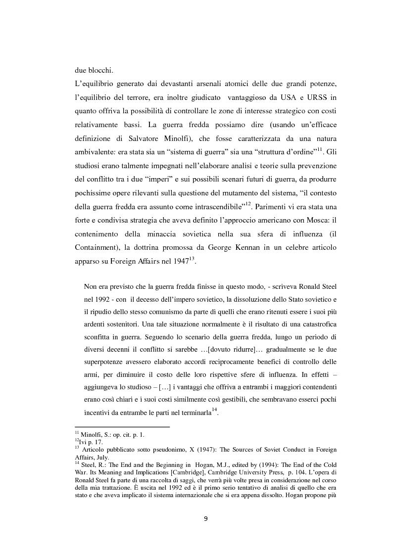 Anteprima della tesi: Declinismo. Il dibattito sul declino degli Stati Uniti tra la fine della guerra fredda e l'inizio dell'era post-bipolare., Pagina 9