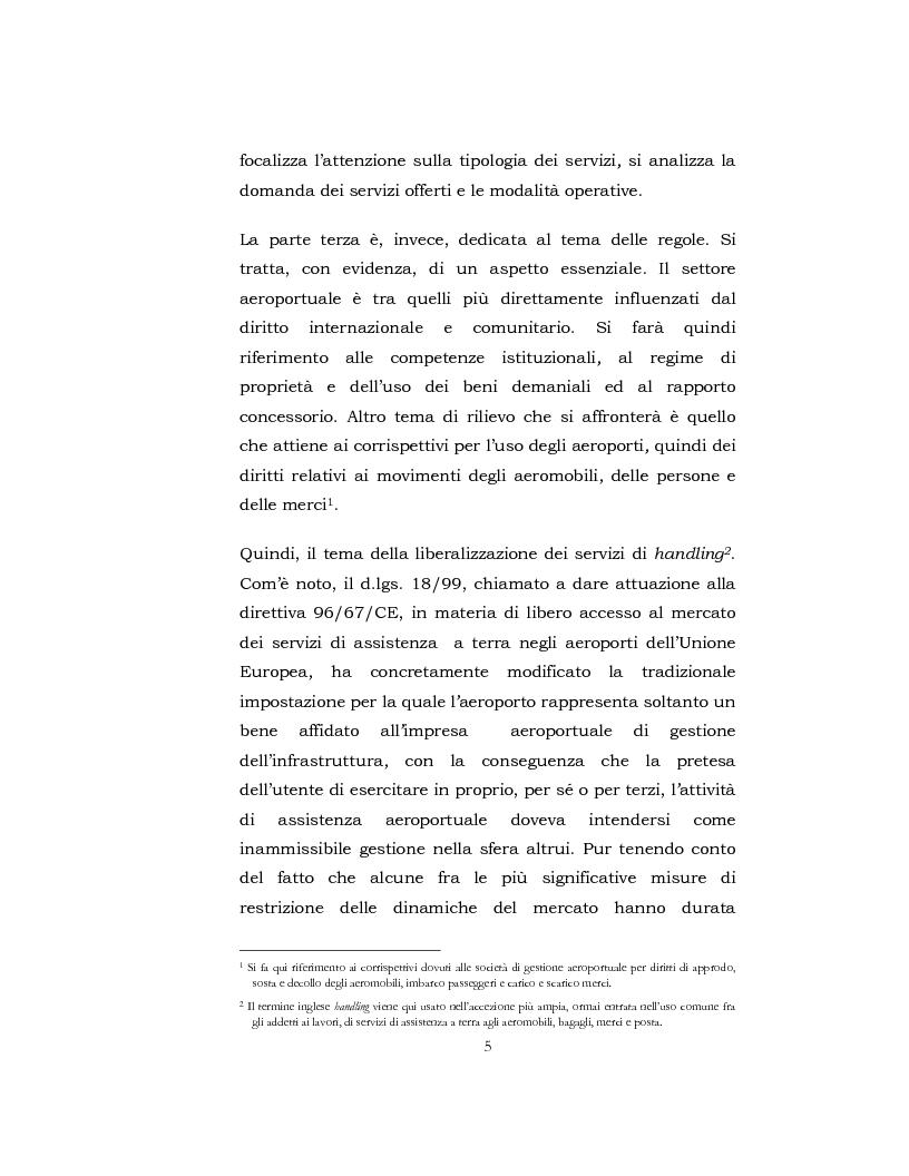 Anteprima della tesi: I Servizi aeroportuali, Pagina 4