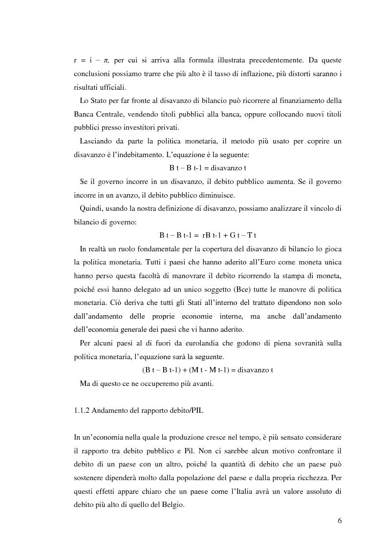 Anteprima della tesi: Il debito pubblico: paragone tra il caso italiano e le esperienze di Argentina, Irlanda e Belgio, Pagina 4