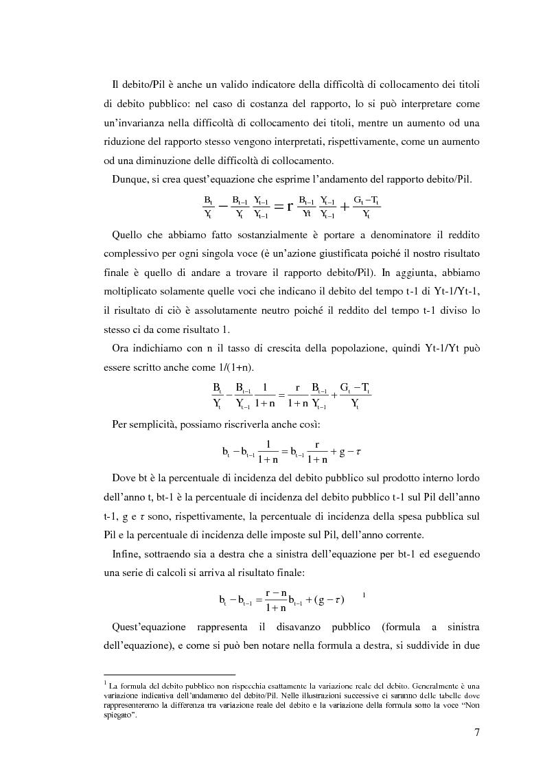 Anteprima della tesi: Il debito pubblico: paragone tra il caso italiano e le esperienze di Argentina, Irlanda e Belgio, Pagina 5