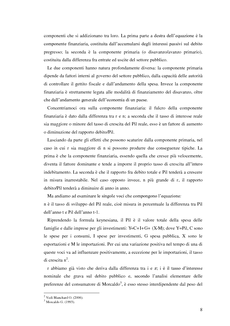 Anteprima della tesi: Il debito pubblico: paragone tra il caso italiano e le esperienze di Argentina, Irlanda e Belgio, Pagina 6
