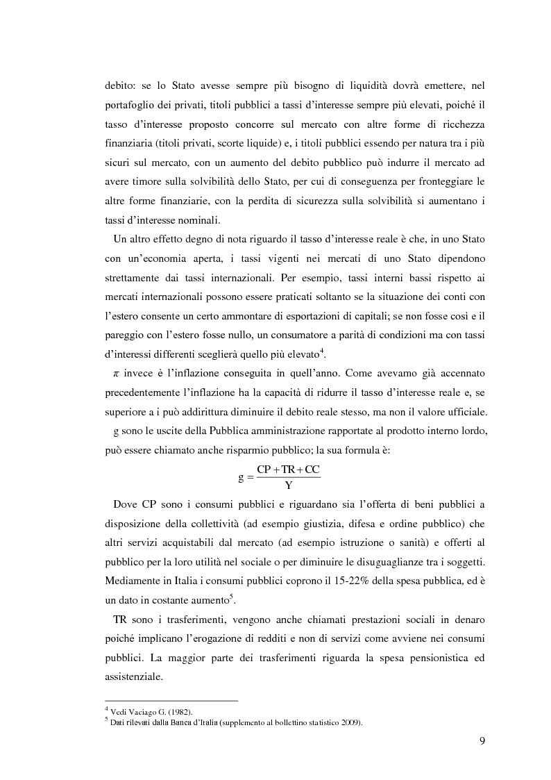 Anteprima della tesi: Il debito pubblico: paragone tra il caso italiano e le esperienze di Argentina, Irlanda e Belgio, Pagina 7