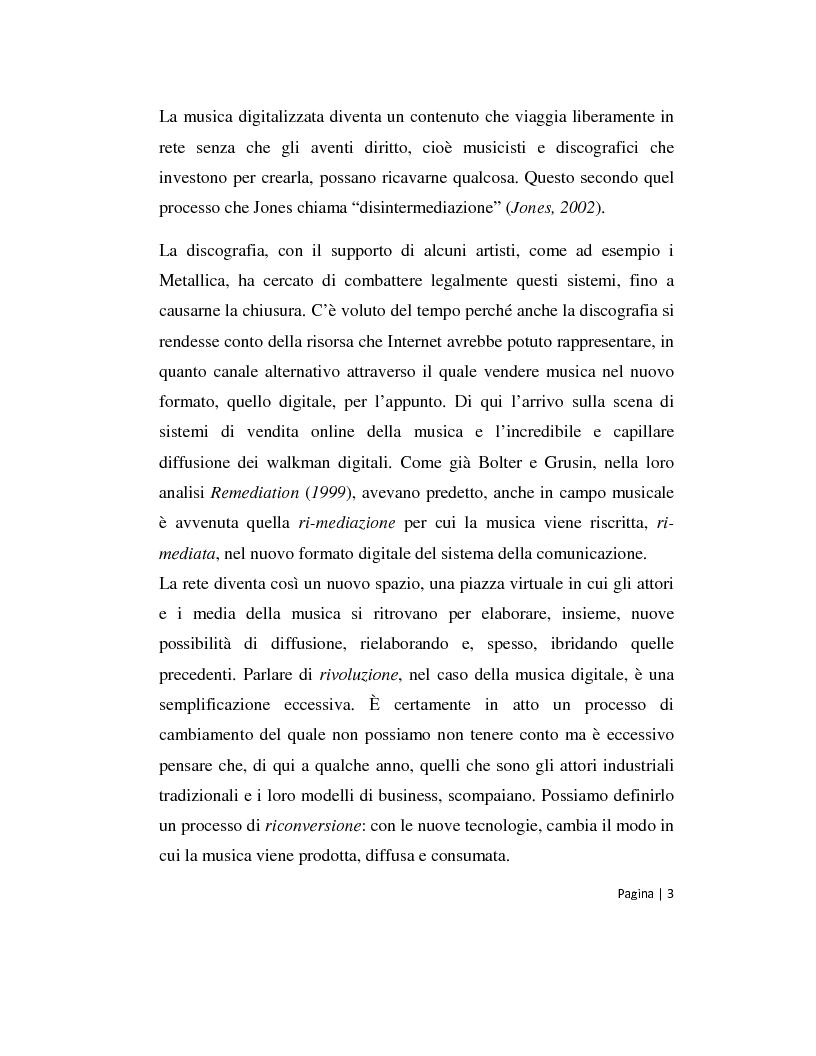 Anteprima della tesi: Musica 2.0 - Come Internet ha cambiato il panorama della musica, Pagina 3