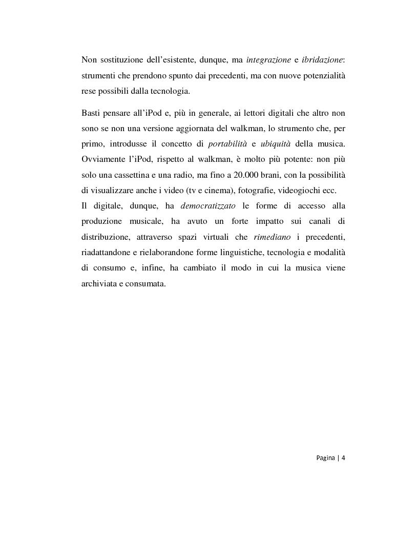 Anteprima della tesi: Musica 2.0 - Come Internet ha cambiato il panorama della musica, Pagina 4