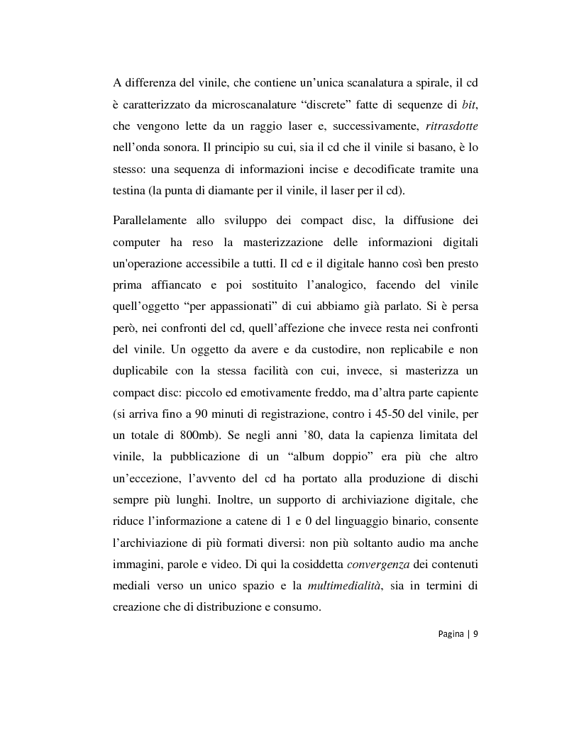 Anteprima della tesi: Musica 2.0 - Come Internet ha cambiato il panorama della musica, Pagina 9