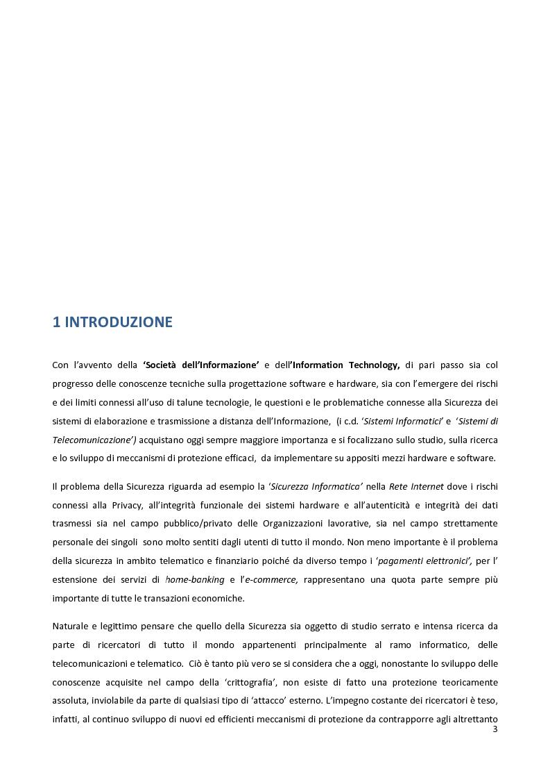 Anteprima della tesi: Meccanismi di sicurezza e privacy per sistemi RFID, Pagina 1