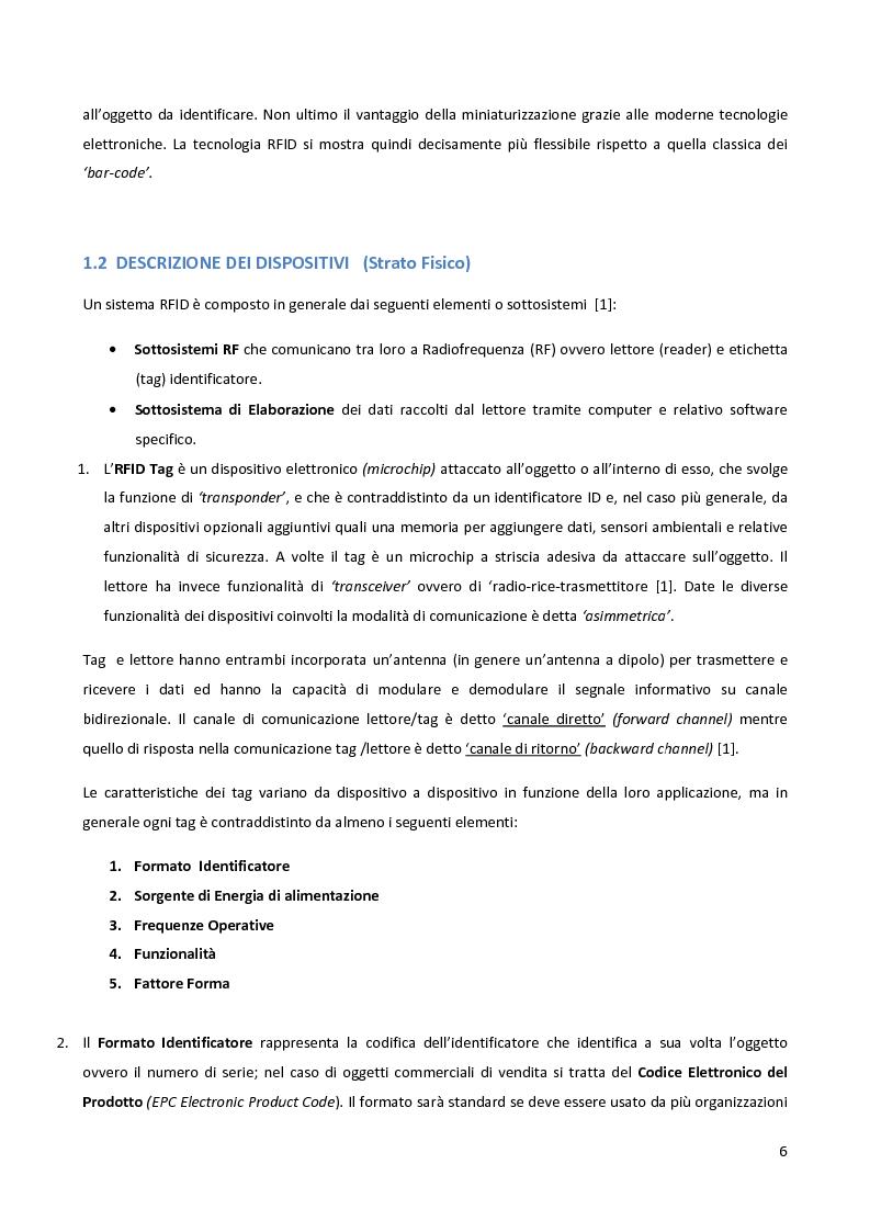 Anteprima della tesi: Meccanismi di sicurezza e privacy per sistemi RFID, Pagina 4