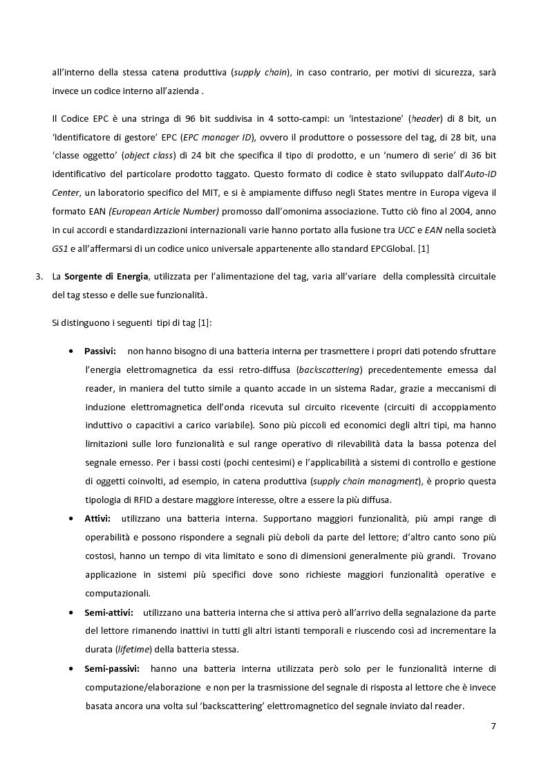 Anteprima della tesi: Meccanismi di sicurezza e privacy per sistemi RFID, Pagina 5