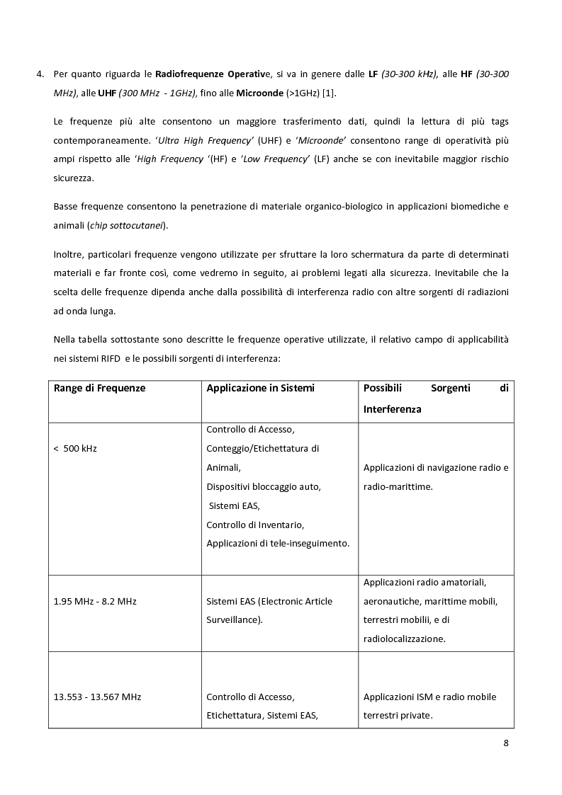 Anteprima della tesi: Meccanismi di sicurezza e privacy per sistemi RFID, Pagina 6