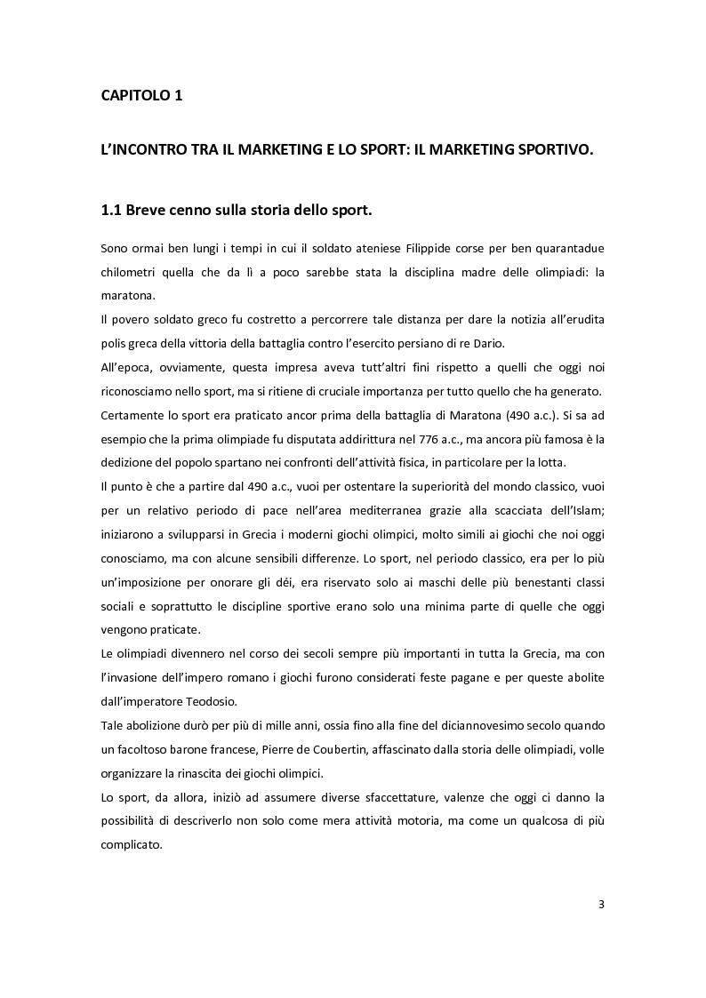 Anteprima della tesi: Il marketing delle società sportive: i casi Verde Sport e U.C. Sampdoria, Pagina 3