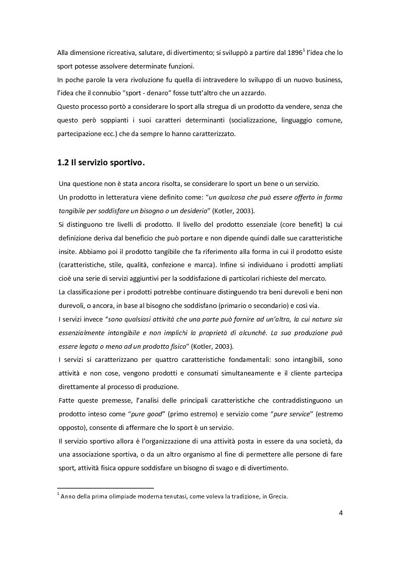 Anteprima della tesi: Il marketing delle società sportive: i casi Verde Sport e U.C. Sampdoria, Pagina 4