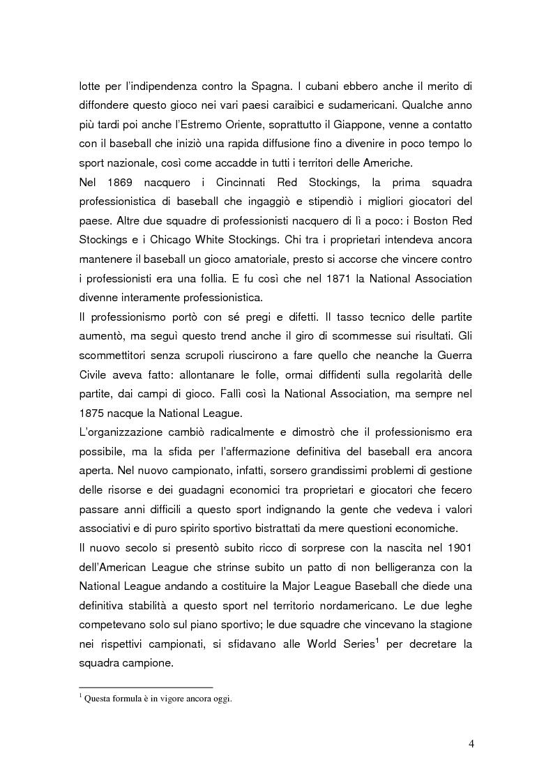 Anteprima della tesi: Il mondiale di baseball in Italia: l'evento come traino di una pratica sportiva emergente, Pagina 4