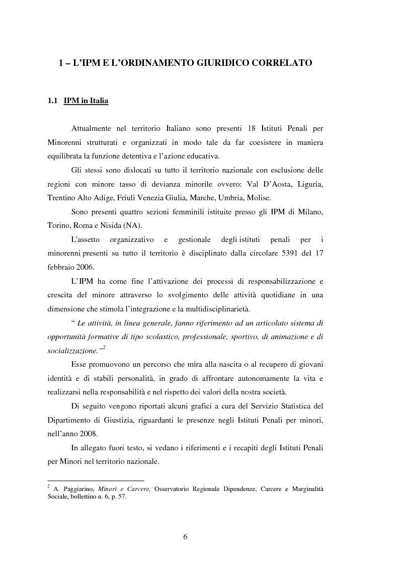 Anteprima della tesi: L'attività motoria all'interno dell'I.P.M. come strumento di integrazione psico-fisica, Pagina 6